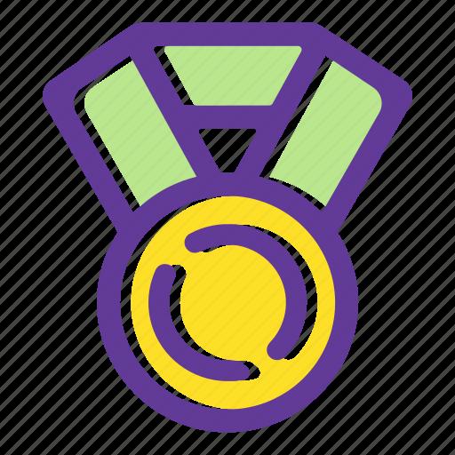 achievement, award, medal, prize medal, star, trophy medal, winner medal icon