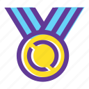achievement, award, medal, prize medal, star, trophy medal, winner medal icon