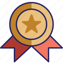 award, bronze, medal, prize icon