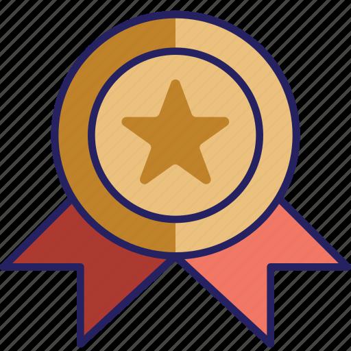 award, bronze, medal, prize icon