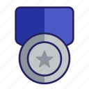 award, challenge, grade, medal, prize, silver, silver medal icon