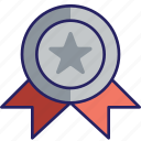 award, challenge, medal, silver icon