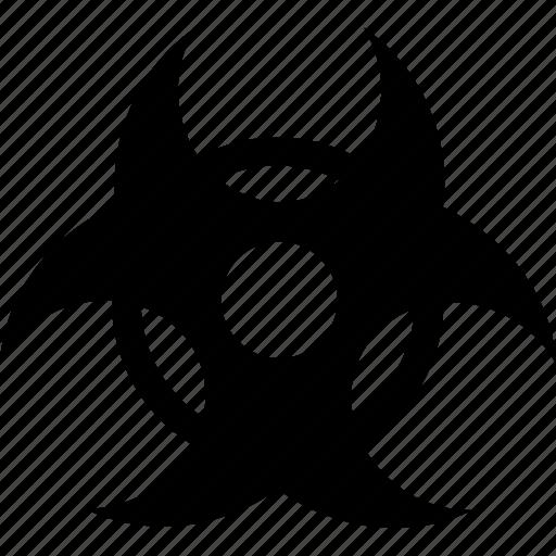 alert, bio, biohazard, danger, hazard, warning icon