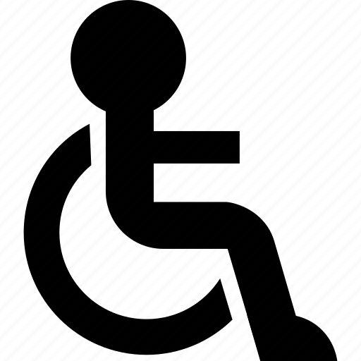 cripple, damaged, disable, disabled, handicap, handicapped, person, sick, wheelchair icon