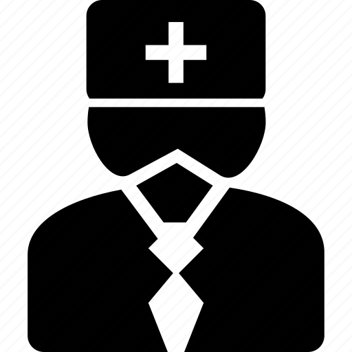 avatar, doctor, head, head physician, man, physician, profile icon