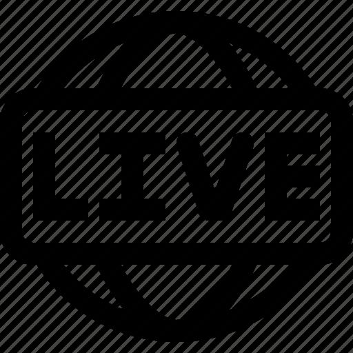 live, news icon