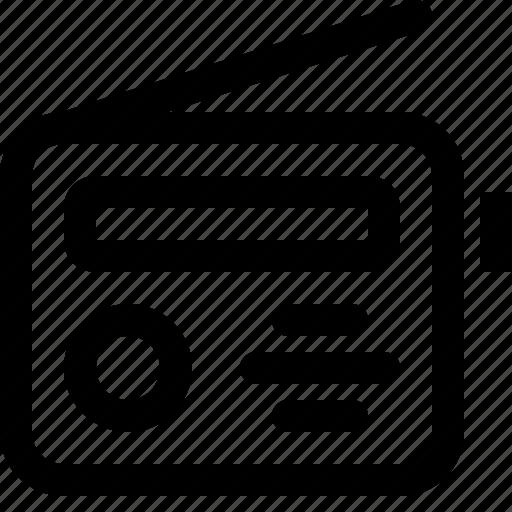 news, radio icon