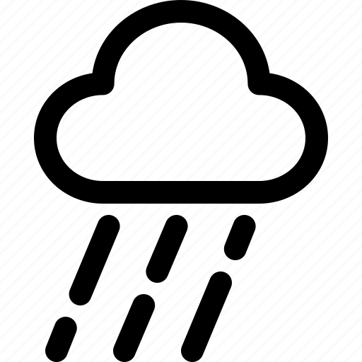 rain, report, weather icon