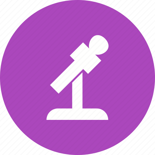 conference, live, mic, microphone, sound, speech, stand icon