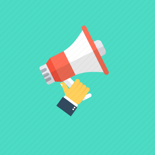 announcement, marketing, marketing promotions, mass advertising, megaphone icon