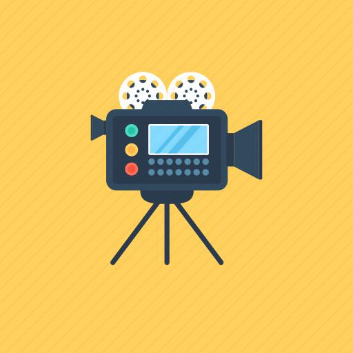 filmmaking, movie camera, multimedia, recording, video camera icon