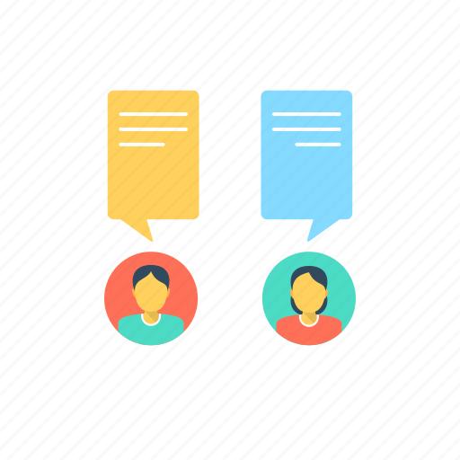 communication, conversation, dialogue, talking icon