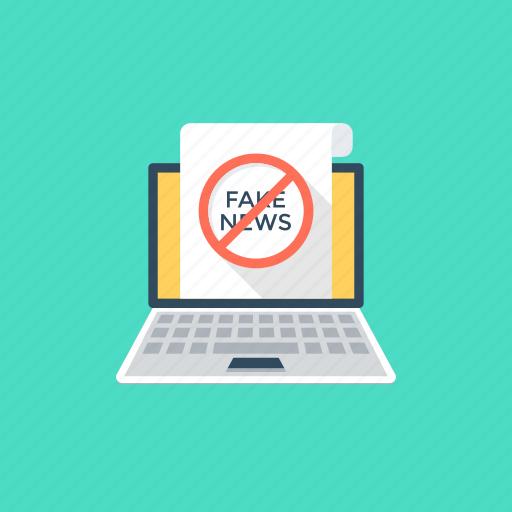 fake news, false advertisement, hoax, propaganda, yellow journalism icon