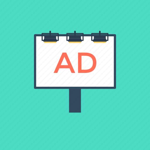 ad billboard, digital billboards, outdoor advertising, print media, signboard icon