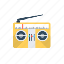 media, old radio, radio, radio set, transmission icon