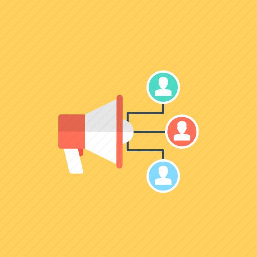 announcement, communication, loudspeaker, marketing promotion, megaphone icon