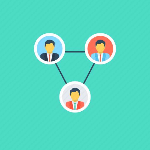 company, crew, organization, team, work group icon