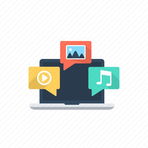 multimedia, online marketing, social media, viral marketing, viral video icon