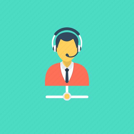 call center, call operator, customer representative, online help, telemarketer icon