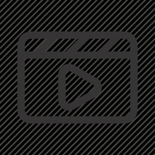 audio, cinema, film, media, movie, play, video icon