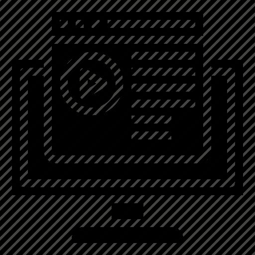 browser, computer, computing, content, internet, media, ui icon