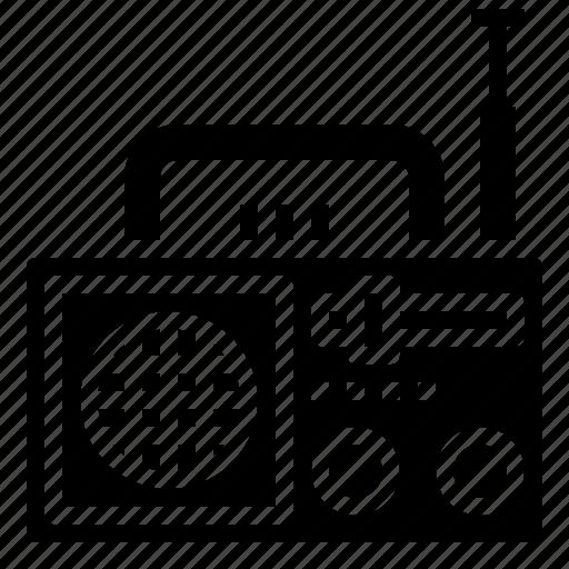 box, cassette, multimedia, music, radio, retro icon