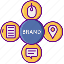 brand, marketing, strategy icon