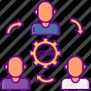 crm, customer, methodologies icon