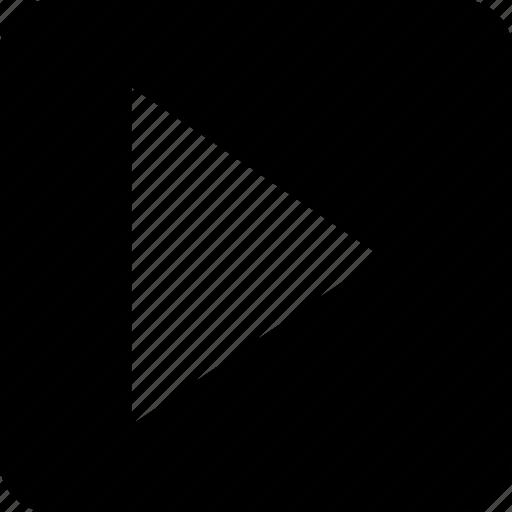 arrow, play, play button icon
