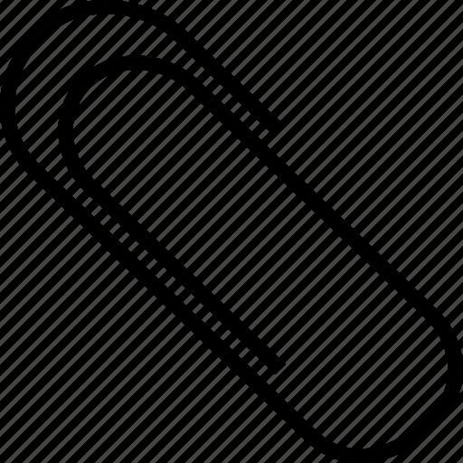 clip, paper clip, paper pin, paperclip icon
