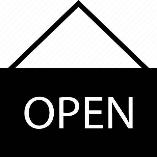 available, open, we are available, we are open icon