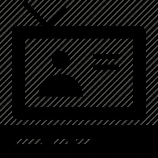 computer, display, monitor, news, television, tv icon