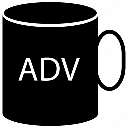 ad, ad on cup, adverting, advertisement, advertisement on cup, cup icon