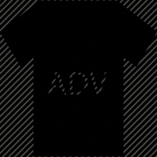 ad on shirt, ad on t-shirt, advertisement, advertisement on shirt, advertising, shirt, t-shirt icon
