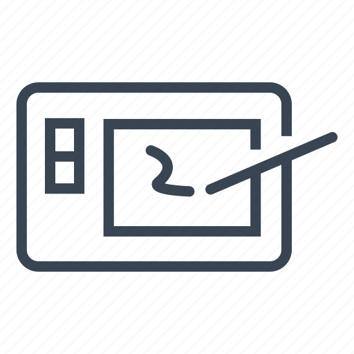 draw, graphic, pencil, tablet icon