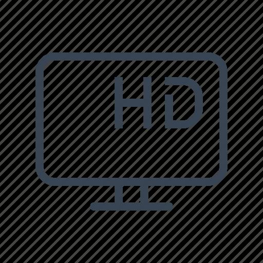 hd, monitor, movie, television, tv icon