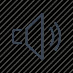 on, sound, speaker, volume icon