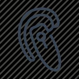 bluetooth, earpiece, handsfree, headset icon