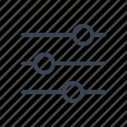 equalizer, mix, setting, settings icon