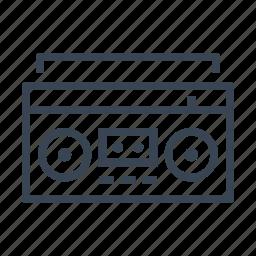 blaster, boombox, cassette, ghetto, radio icon