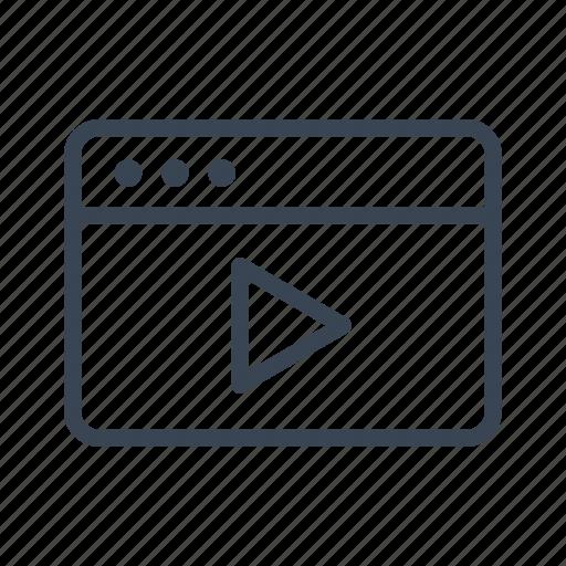 application, movie, player, video, window icon