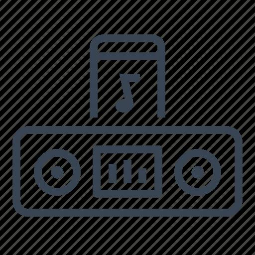 dock, mp3, music, phone icon