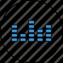 equalizer, audio, control, media, music, settings, sound