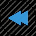 rewind, audio, control, media, music, player, sound