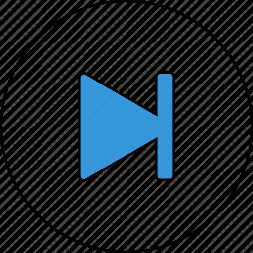 audio, control, media, music, next, skip, sound icon