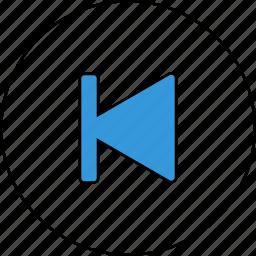 control, media, previous, skip icon