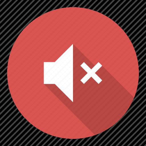 disable, media, mute, no sound, off, volume icon