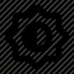 bright, contrast, edit, filter, photo icon