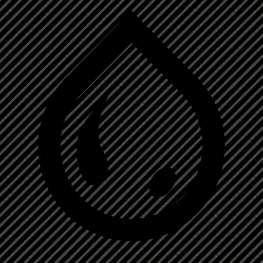 drop, oil, paint, tear, water icon