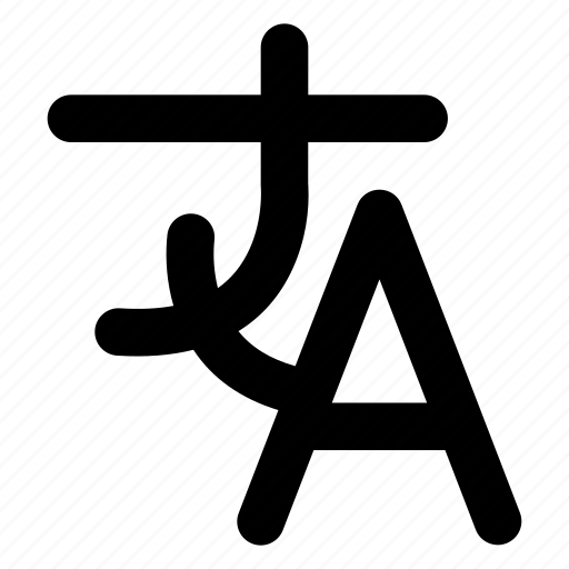 character, hieroglyph, language, letter icon